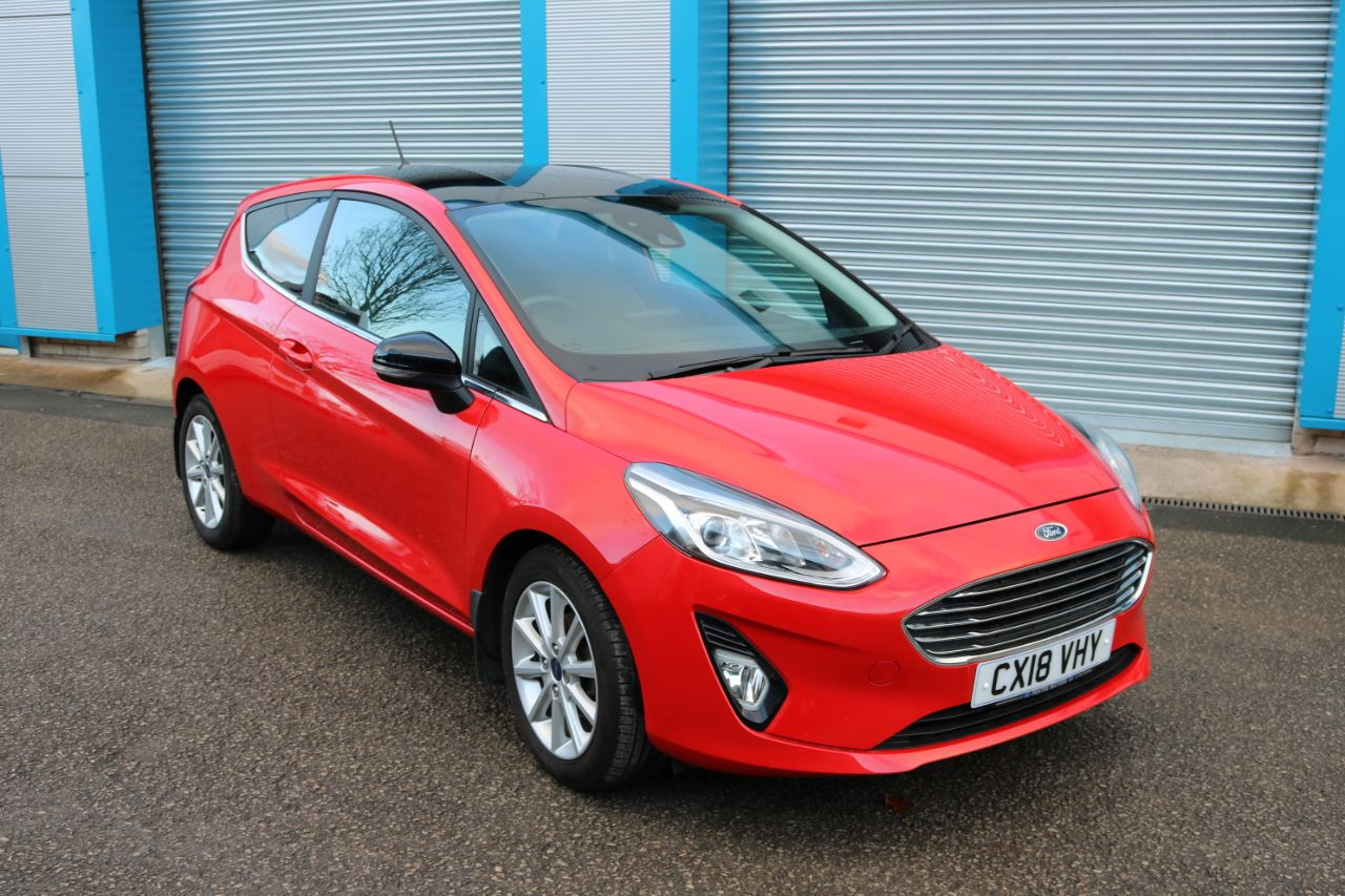 Ford Fiesta 1.5 TDCi 120 Titanium 3dr Hatchback Diesel Red at Pentre Motors Denbigh